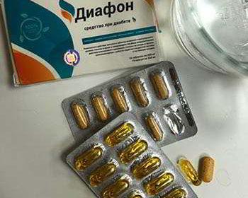 Лекарство Диафон от диабета на столе