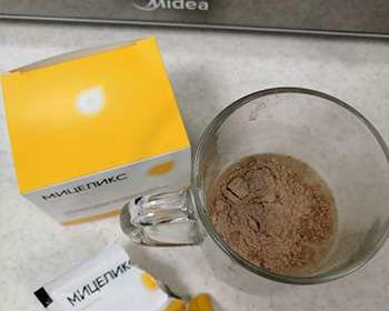 Препарат Мицеликс для чистки на сыпали в чашку